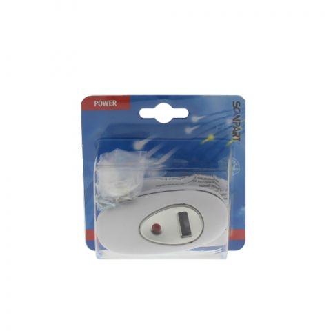 Ledningsdimmer hvit,LED 4-100W