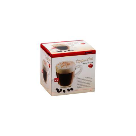 Cappuccinoglass m/skål 2stk