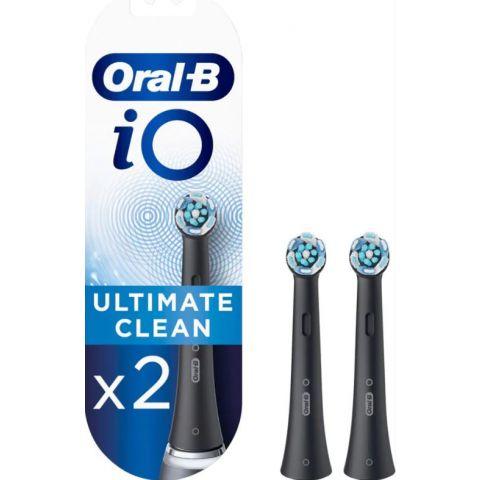 Oral-B IO 3758 Ultimate Clean Tannbørsterefill Black X2