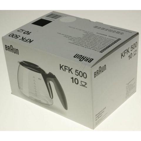 Braun GLASSKANNE, KFK500 SVART 10 KOPPER (63104704)